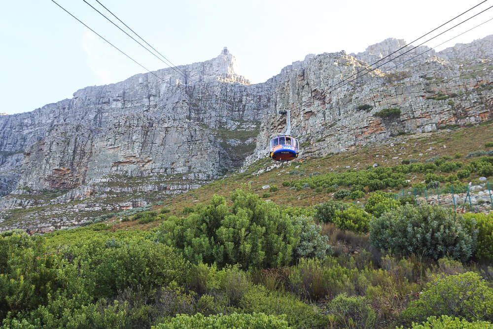 The funicular to go up Table Mountain for sunset in Cape Town