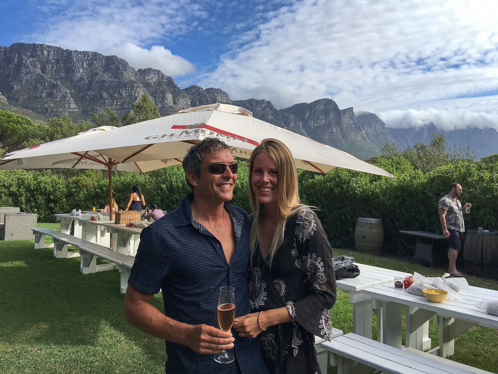 Sundowners at the Roundhouse during our 5 days in Cape Town