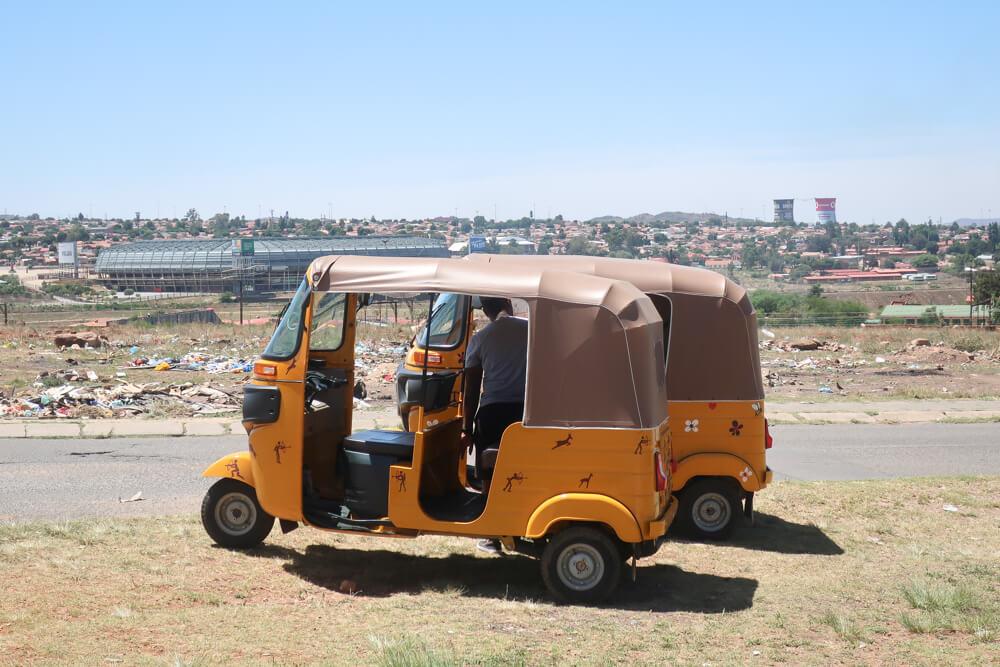 Take a bike tour, or one of Soweto Backpackers' tuk-tuks, to explore Soweto