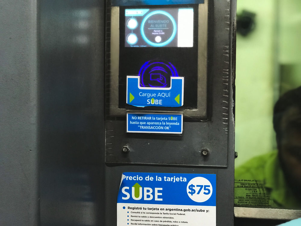 You can buy a SUBE card in the Buenos Aires subway stations.