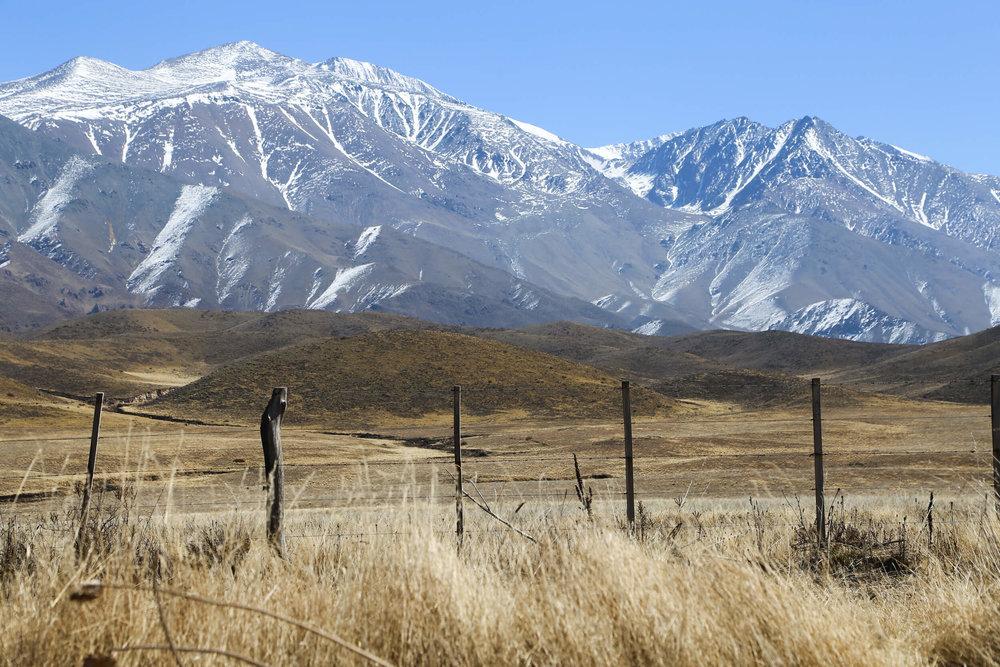 The mountains of Potrerillos Mendoza