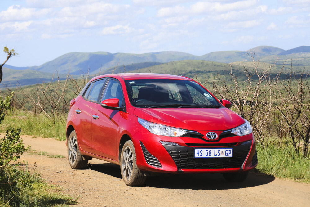 Our not subtle whatsoever car for our self-drive safari in Hluhluwe-Imfolozi
