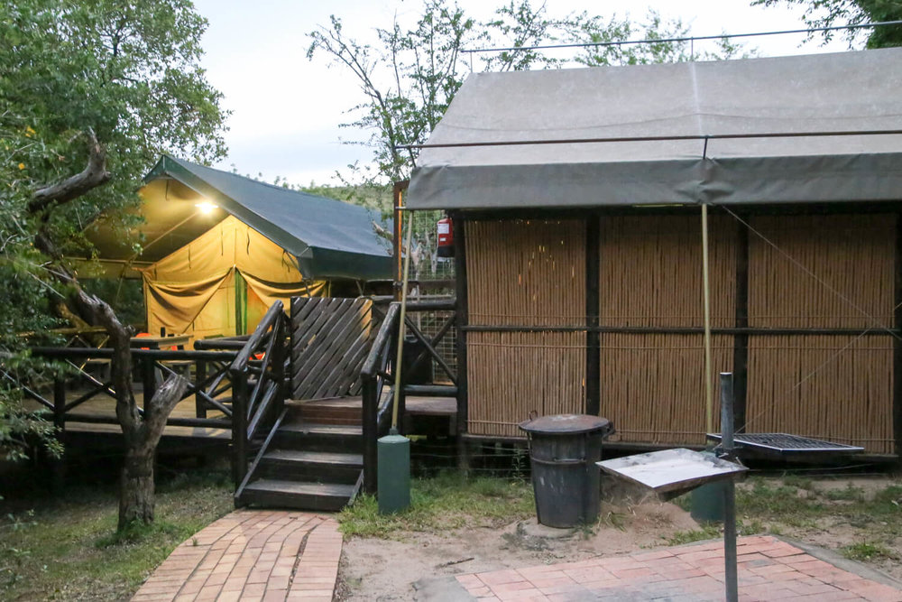 Our tent in Mpila Camp, Imfolozi