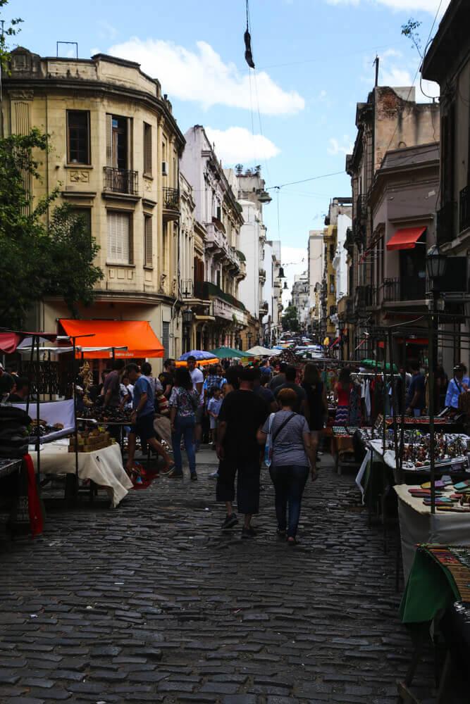 Antique shopping in San Telmo Market