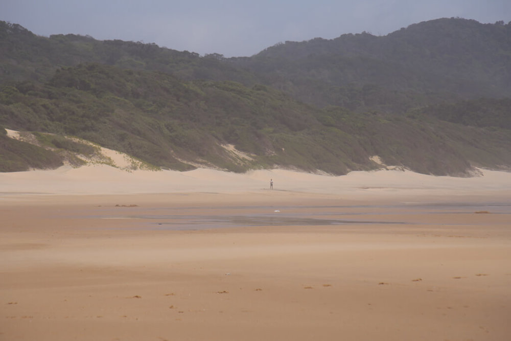 The expansive beach at Cape Vidal in St Lucia