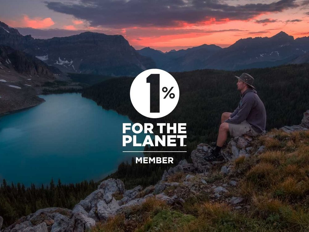 1% FOR THE PLANET - A nonprofit with a mission to build, support and activate an alliance of businesses financially committed to creating a healthy planet. We contribute 1% of gross revenue to support the health of our local and global communities.