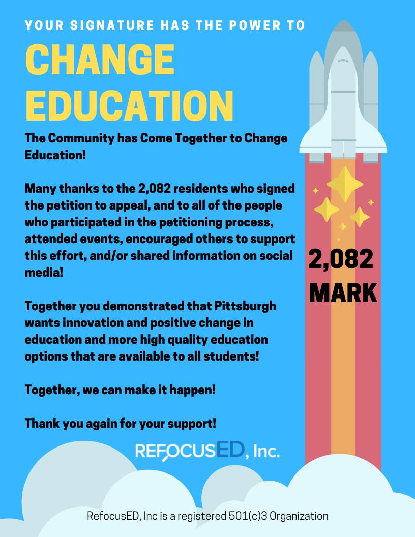 WE NEED YOUR SUPPORT - Many thanks to the 2,082 residents who signed the petition to appeal, and to all of the people who participated in the petitioning process, attended events, encouraged others to support this effort, and/or shared information on social media!