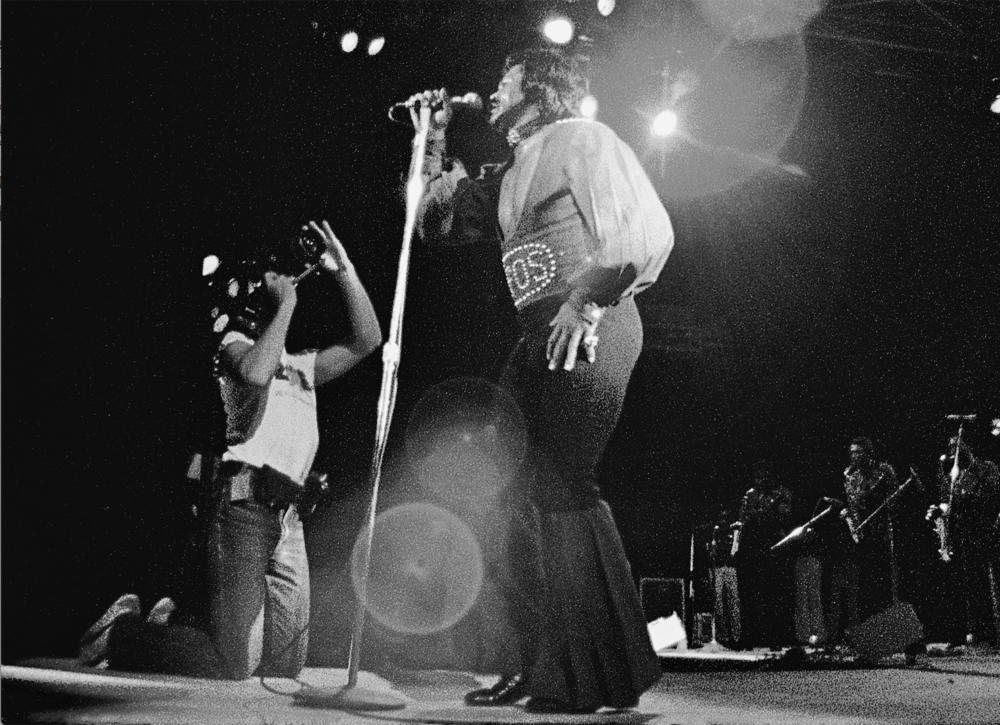 Zaire 74, James Brown, 2 am in an almost empty stadium in Kinshasha, WHEN WE WERE KINGS, SOUL POWER.
