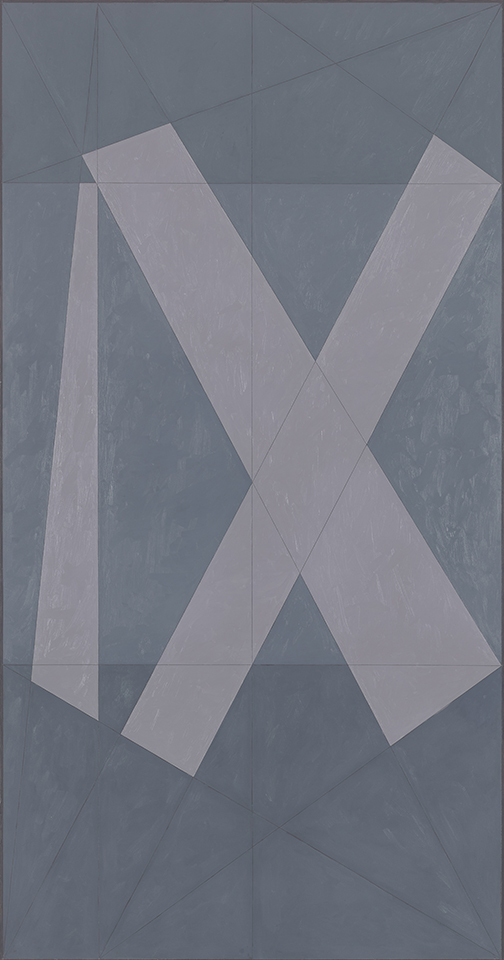 Roman IX (Q1-81 #1)  , 1981, Oil on canvas, 95 x 50 in. (241.3 x 127 cm) Collection of the Estate of Jack Tworkov, New York (CR169)