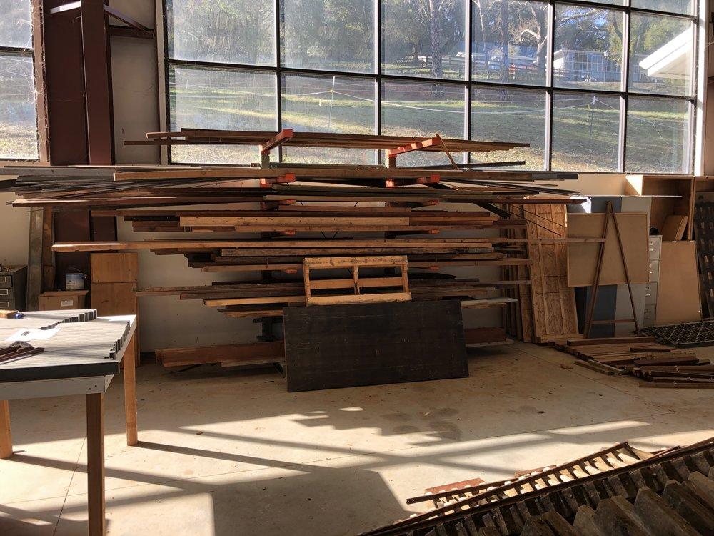 Milled redwood storage