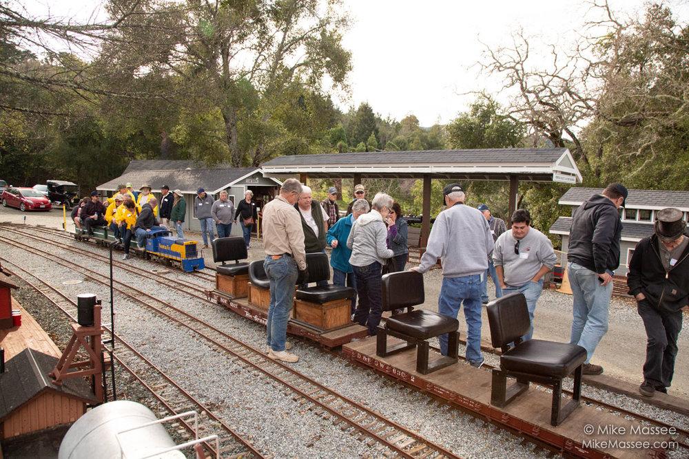 Passenger loading at the station