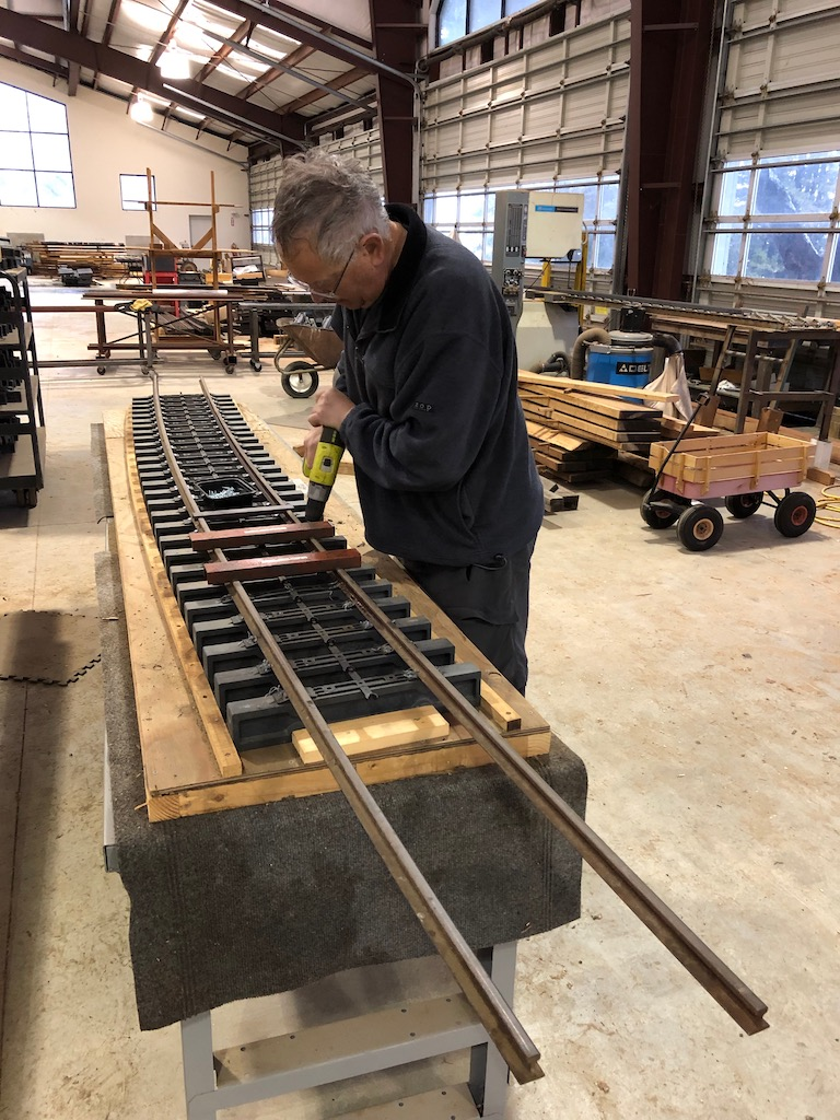 Russ builds a 13' panel to bridge the gap between the North Yard and the stub switch