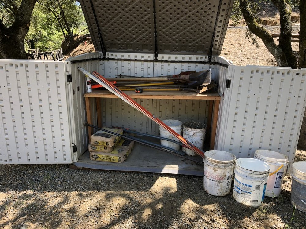 The dog house tool shed goes back to work