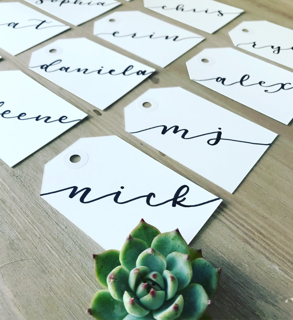 Personalized Wedding Tags Calligraphy .jpeg