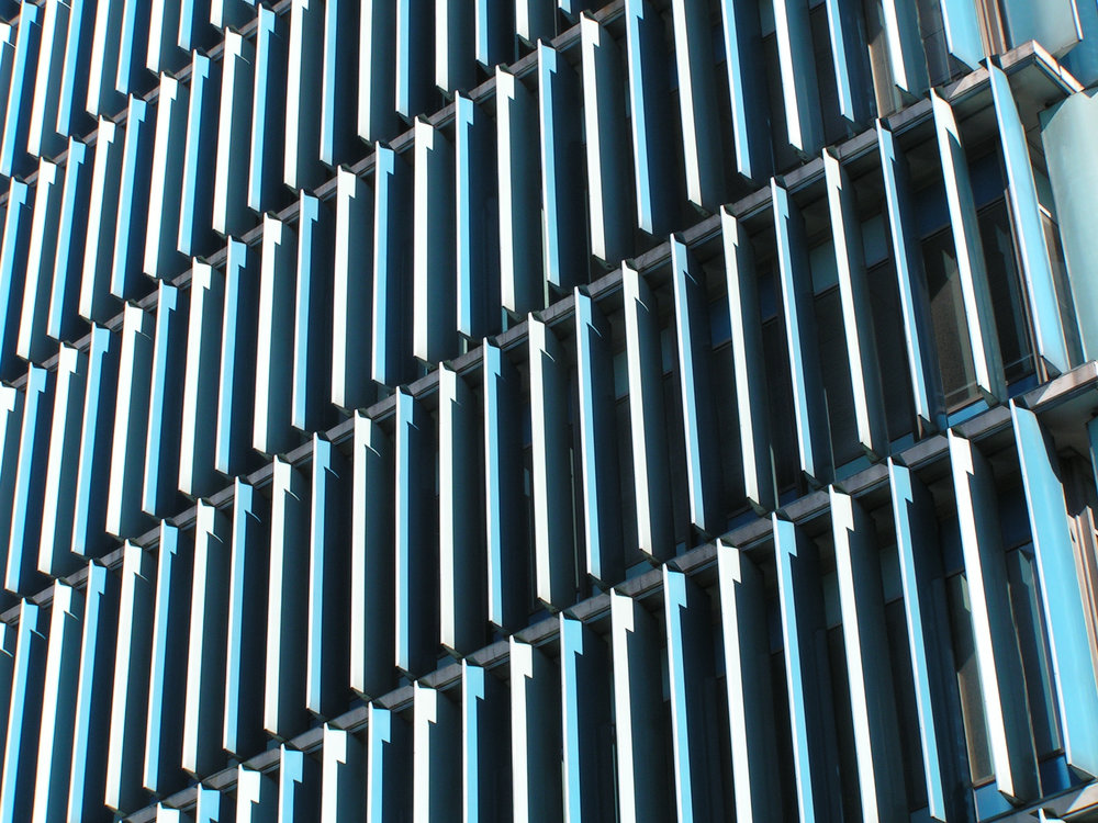 Detail view of vertical louvres, 2009.