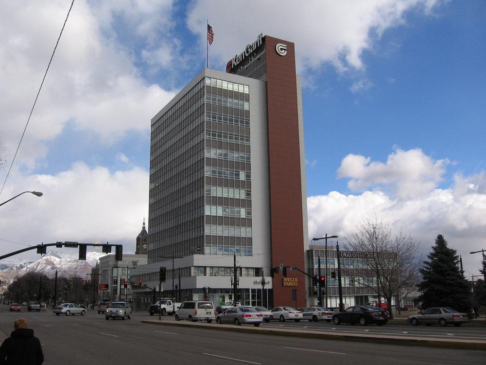 First Security (Ken Garff Building) after rehabilitation in 2004