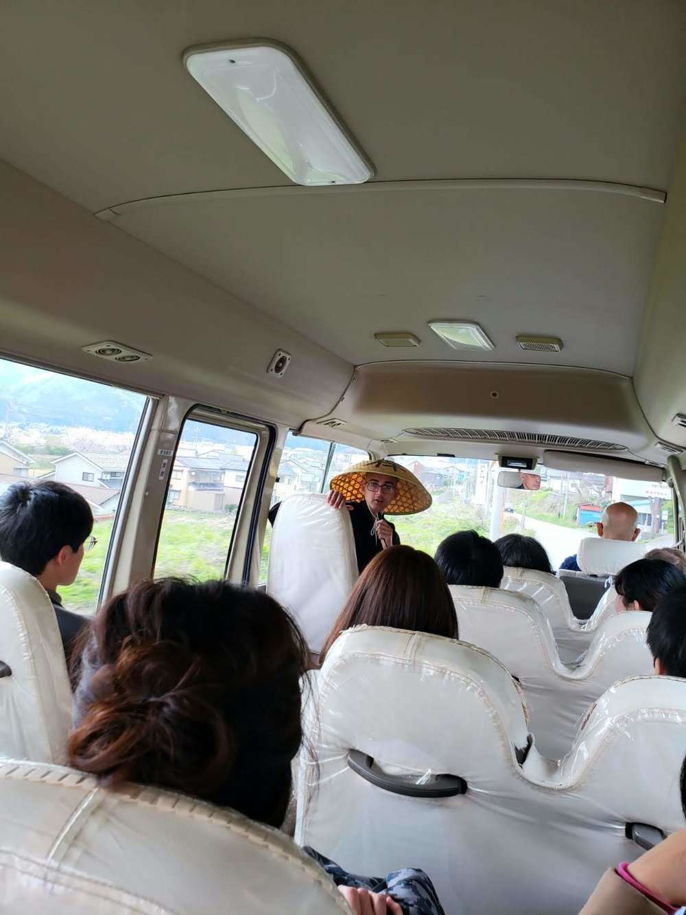 バスの中での会話