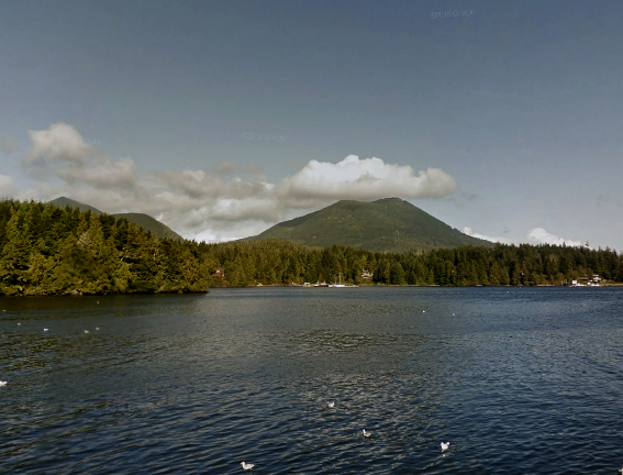 View from Ucluelet Aquarium - Google Street View.