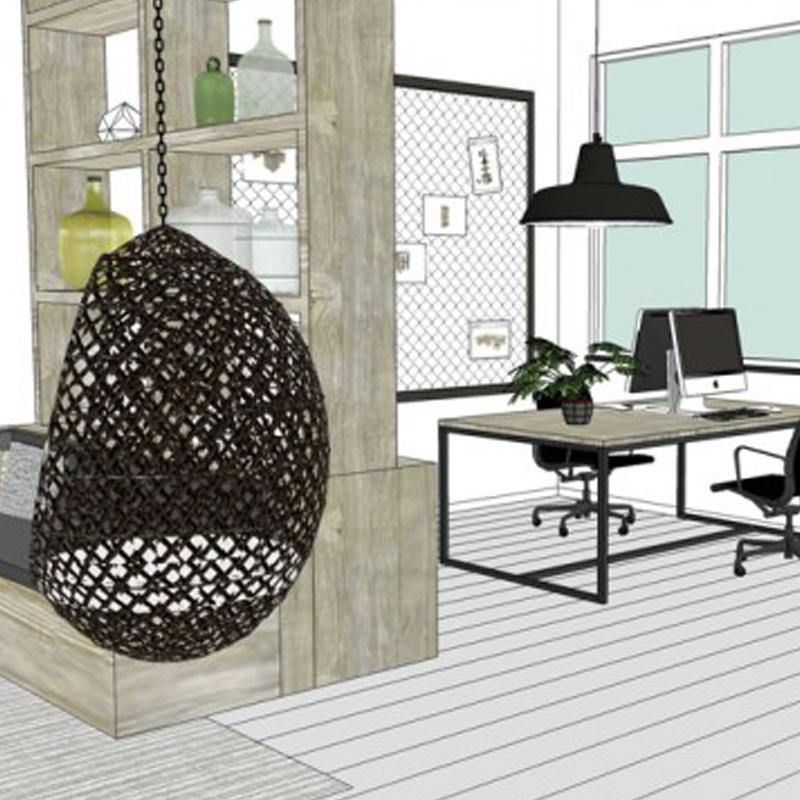 KANTOREN - Ontwerp en productie van maatwerk kantoorbureau's, lunchruimtes, vergadertafels, ontvangstbalie, stoelen, opbergmogelijkheden en vooral veel sfeer en advies om meer uit een ruimte te halen.