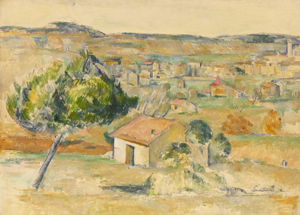 """Paul Cézanne, """"Plaine provençale"""", 1883–1885"""