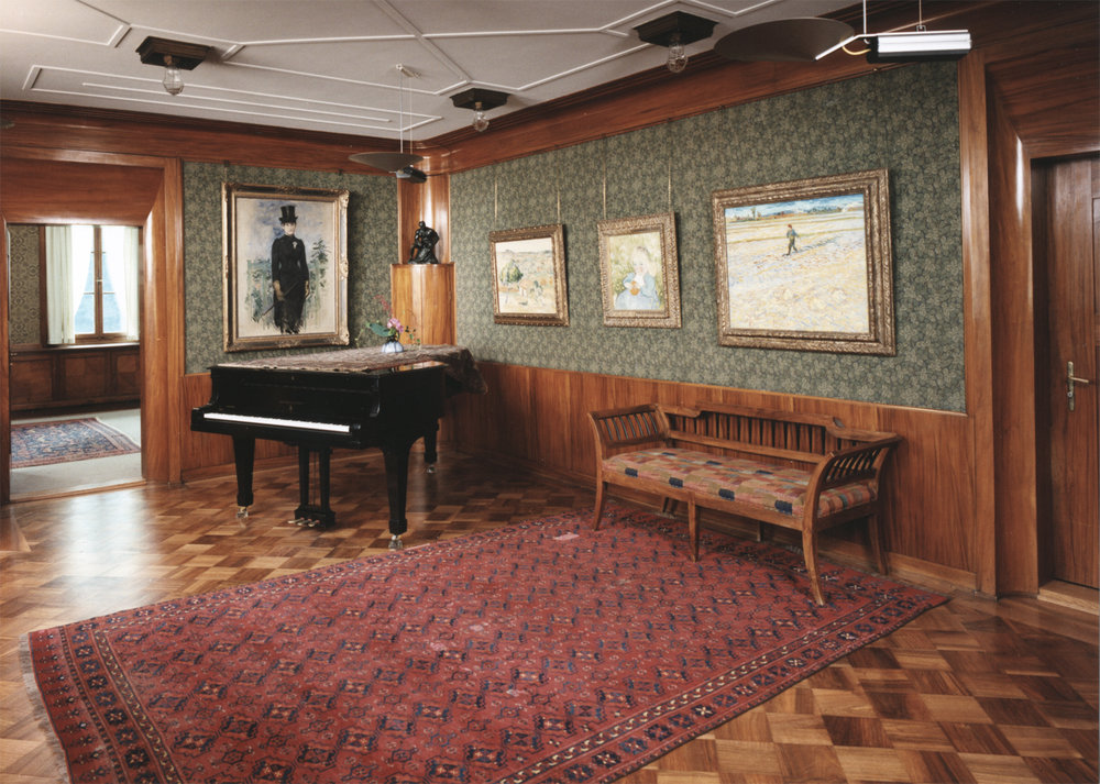 Salon in der Villa Flora. Foto von Peter Engeler