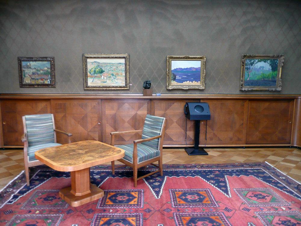 Oberlichtsaal in der Villa Flora. Foto von Theres Schwarz