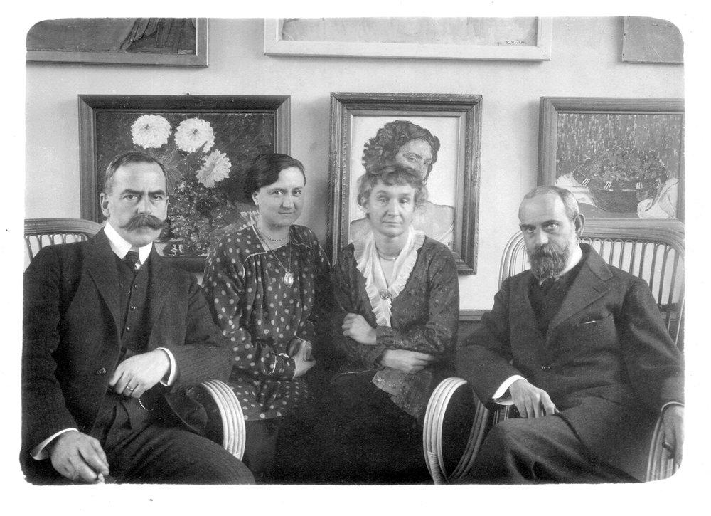 Arthur Hahnloser, Jeanne Manguin, Hedy Hahnloser-Bühler und Henri Manguin, 1910