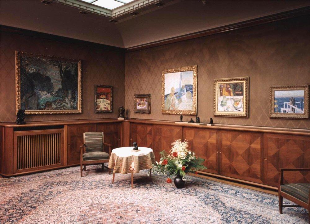 Oberlichtsaal in der Villa Flora. Foto von Peter Engeler