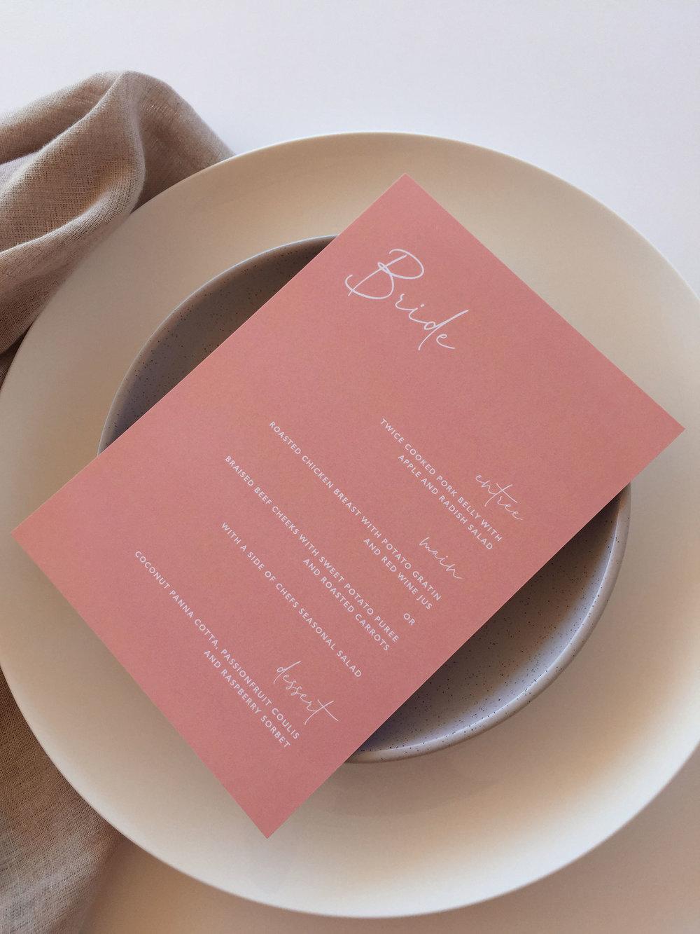 Personalised menu