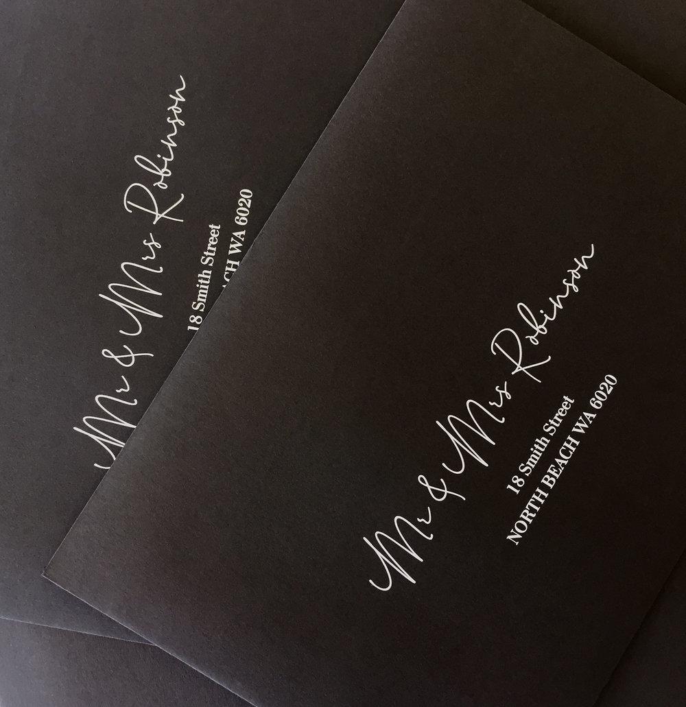 Personalised addressed envelopes