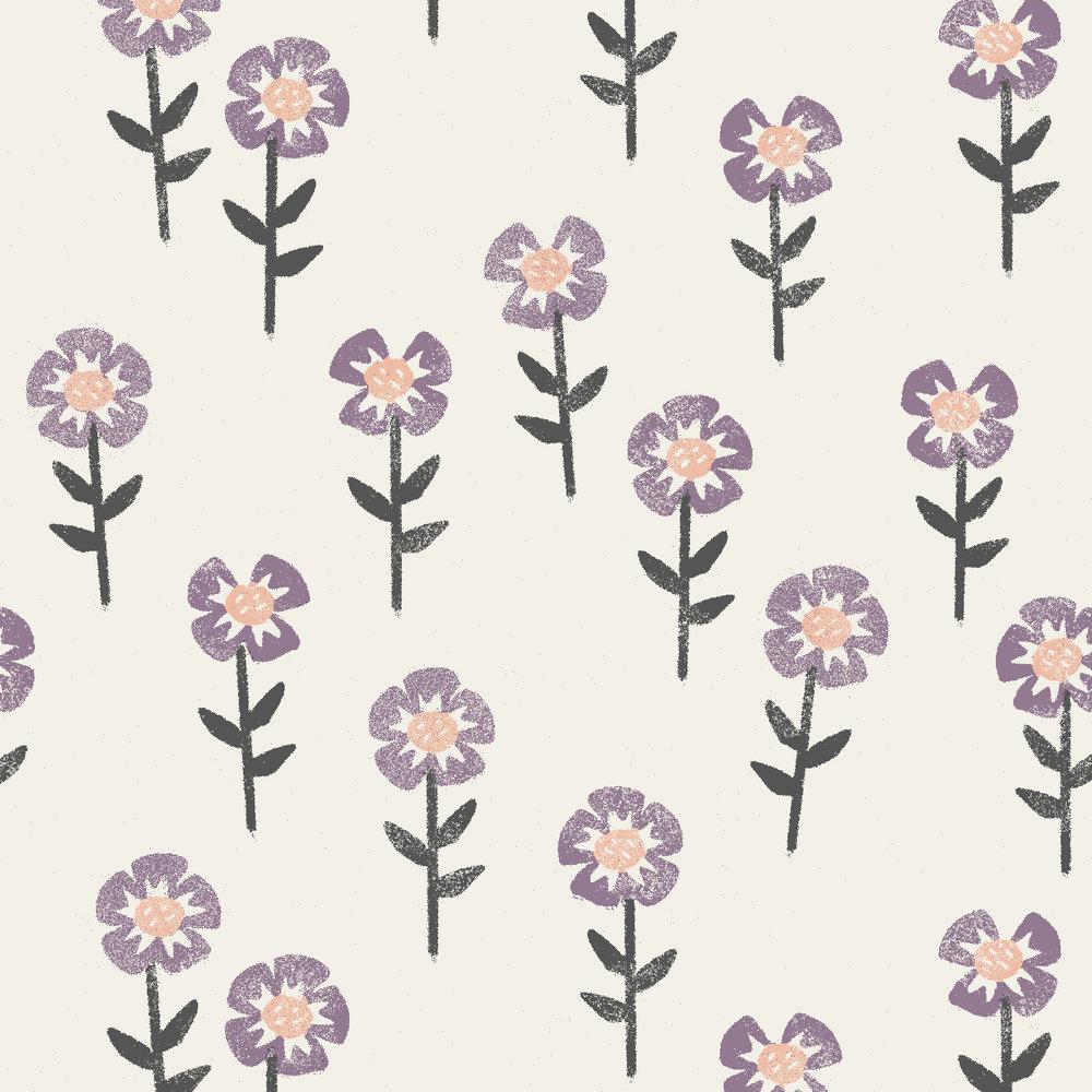 block print flowers