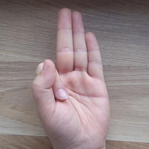 Vaayu - Thumb to Index Finger.