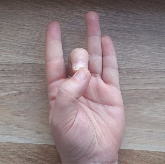 Aakash - Thumb to Middle Fingertip.