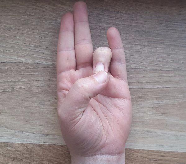 Prithvi - Thumb to Ring Fingertip.