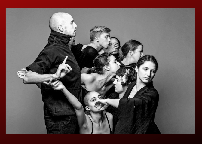 Ate9 - The cast is comprised of dancers handpicked by Agami– together they are committed to the research and development of the distinct voice of Ate9. Since its inception, Ate9 was given the blessing by Ohad Naharin to use Gaga as its primary training method and extend it to the various communities it visits.