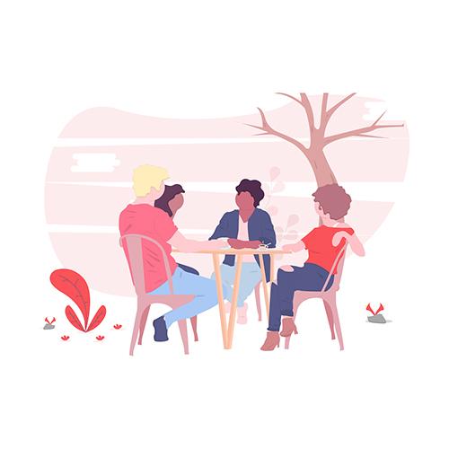 Focus Group e Entrevistas - Conduzimos entrevistas individuais e grupos de foco com clientes ou usuários para formar uma compreensão profunda do seu contexto.