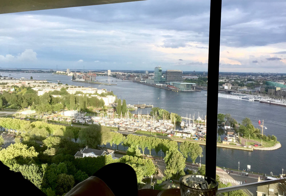 Amsterdam Tower - Moon Rotating Restaurant - View out the window