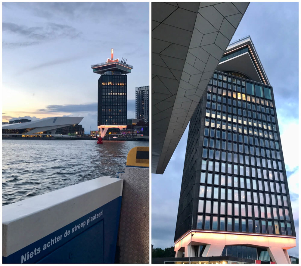 Amsterdam Tower - Moon Revolving Restaurant - Free ferry from Centraal Station to IJplein