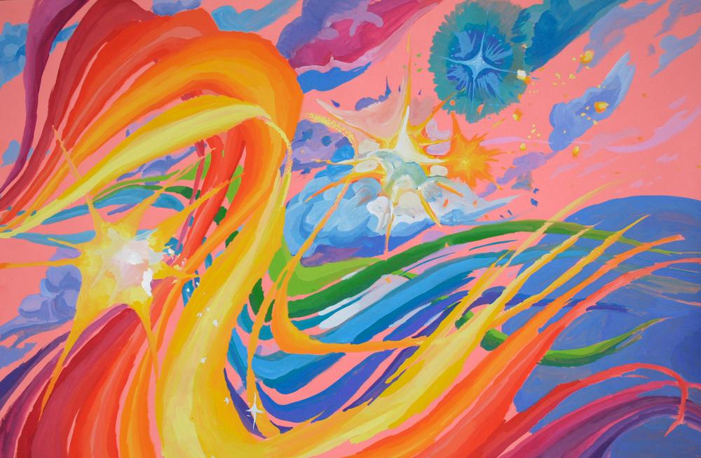 Color Raced Joyfully Across the New Sky