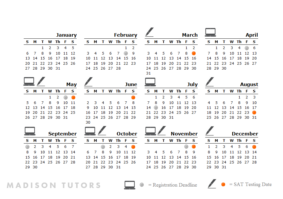 SAT Test and Registration Deadlines, 2019 — Madison Tutors