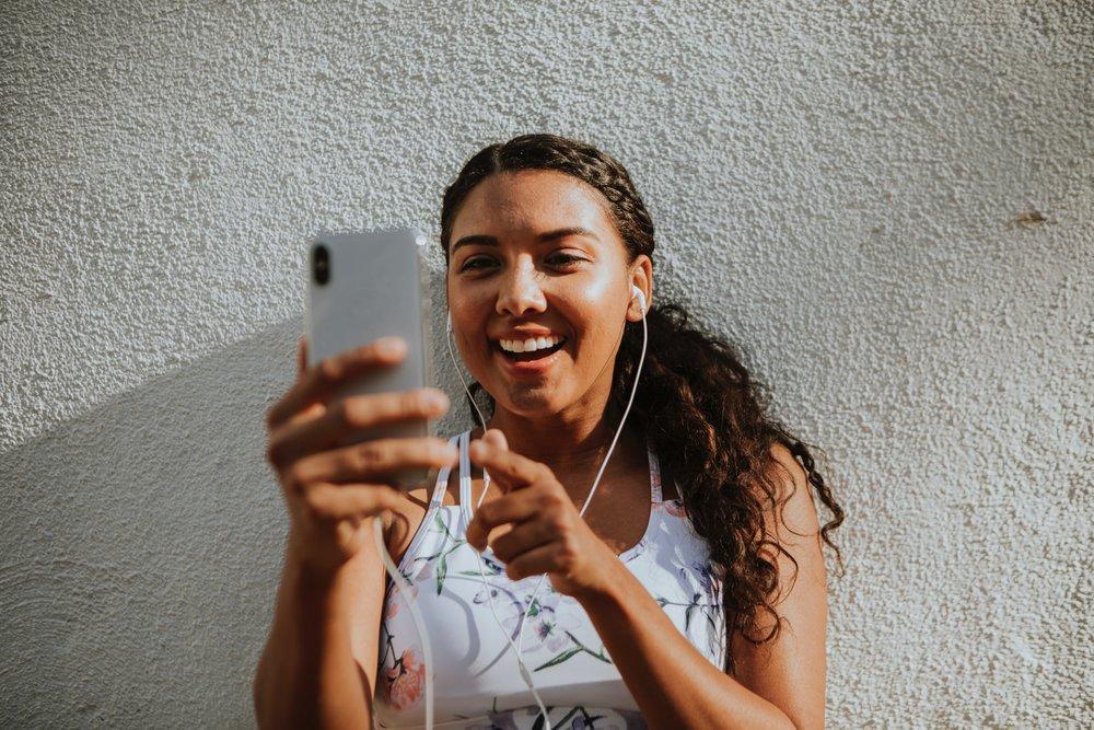 Teen on Social Media