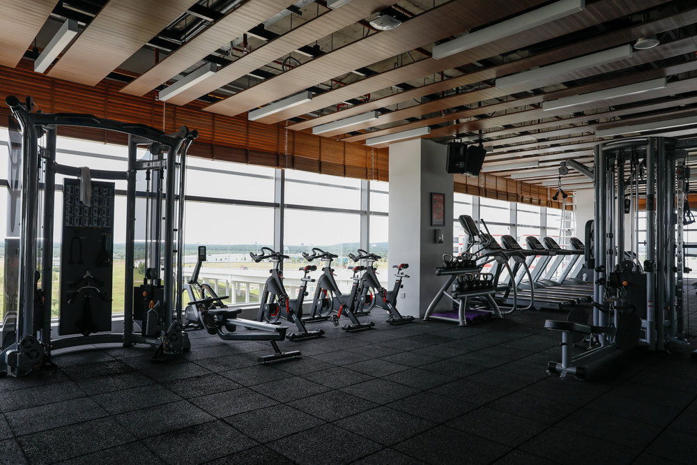 Energy Lab - Open 24-7, the gym at RedQ is fully equipped with weights, machines, ropes and a mini studio to get your heart pumping.