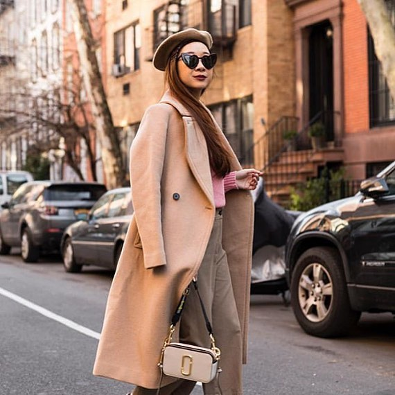 Our Z Best Dressed list maker @happilyeverstyle shows us how chic neutrals can look 😍 shop her closet now on @Trench 💕