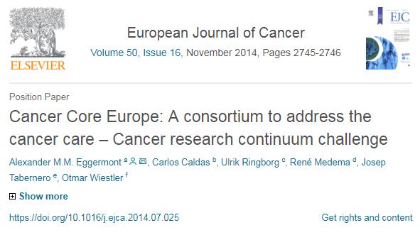 NewsBlog — Cancer Core Europe
