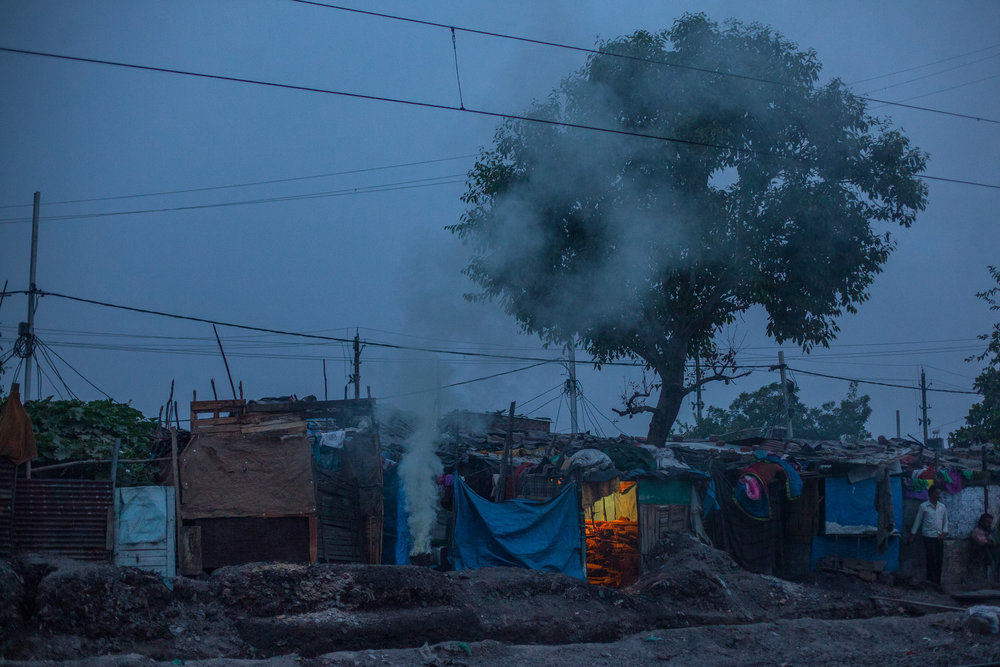One of the shanties of Chola Bustee, one of the closest areas to the factory.