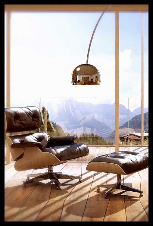 9. viste - Il Belmont e' caratterizzato da 255 finestre e 1000 m2 di vetrate, con le zone living sempre orientate al sole ed a inquadrare le montagne circostanti. Sono le viste ad aver definito gli spazi e le forme.