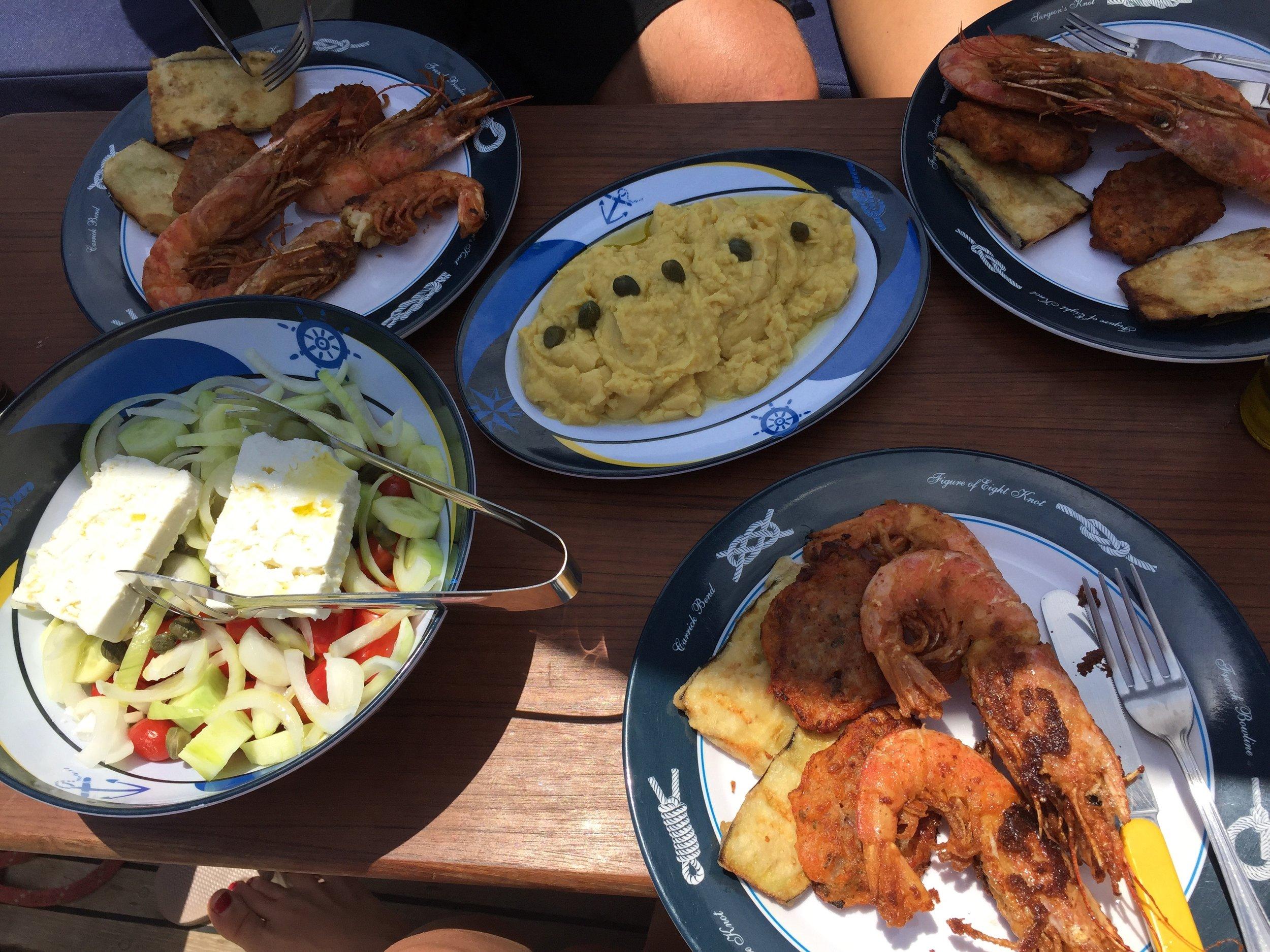 Greek Food Santorini Lisa Sansouci