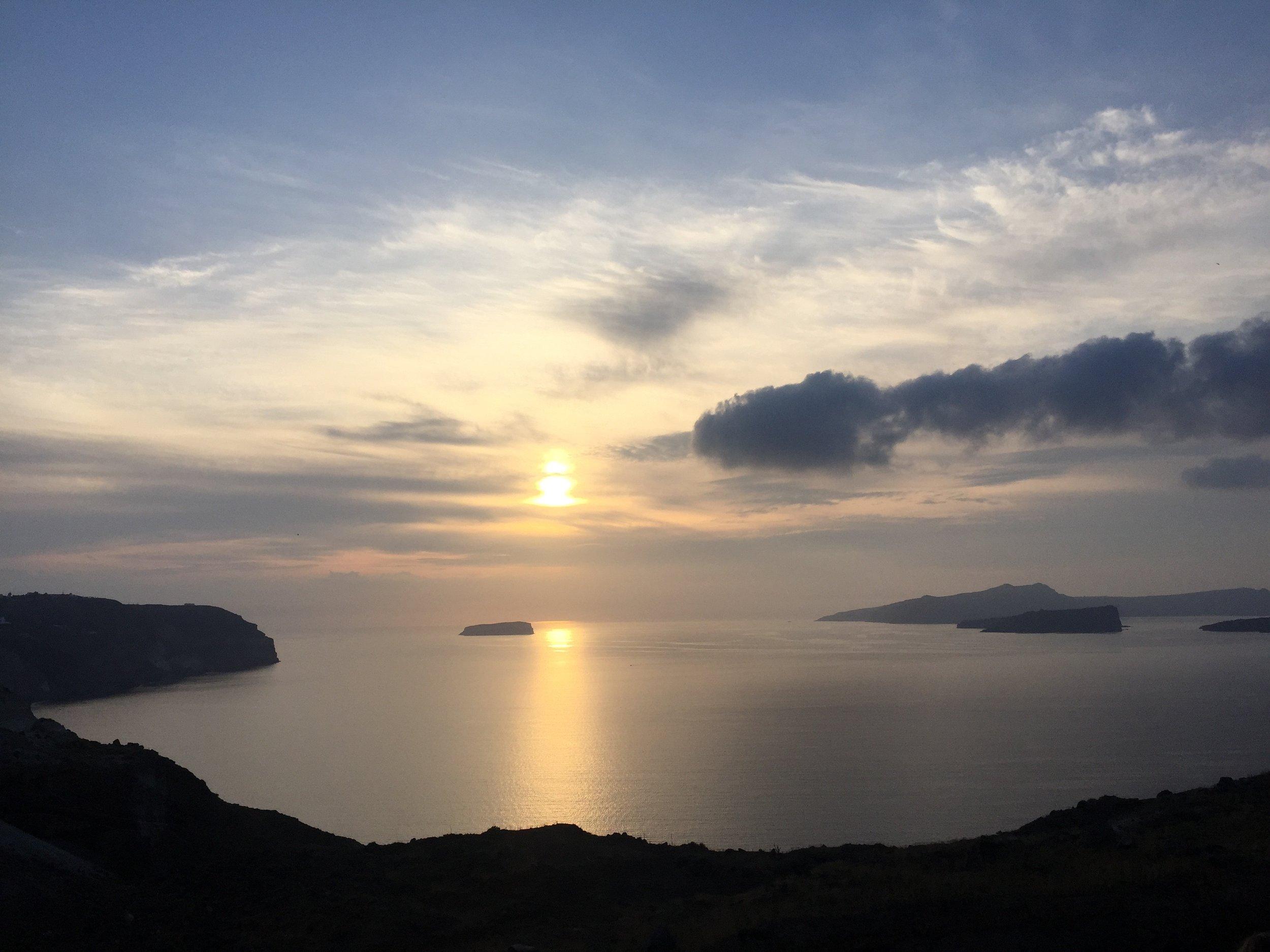 Santorini Sunset Lisa Sansouci