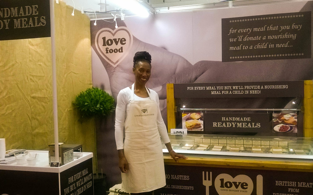 Love Food make handmade ready meals with an ethical mission to donate a meal to a child in need for every meal bought