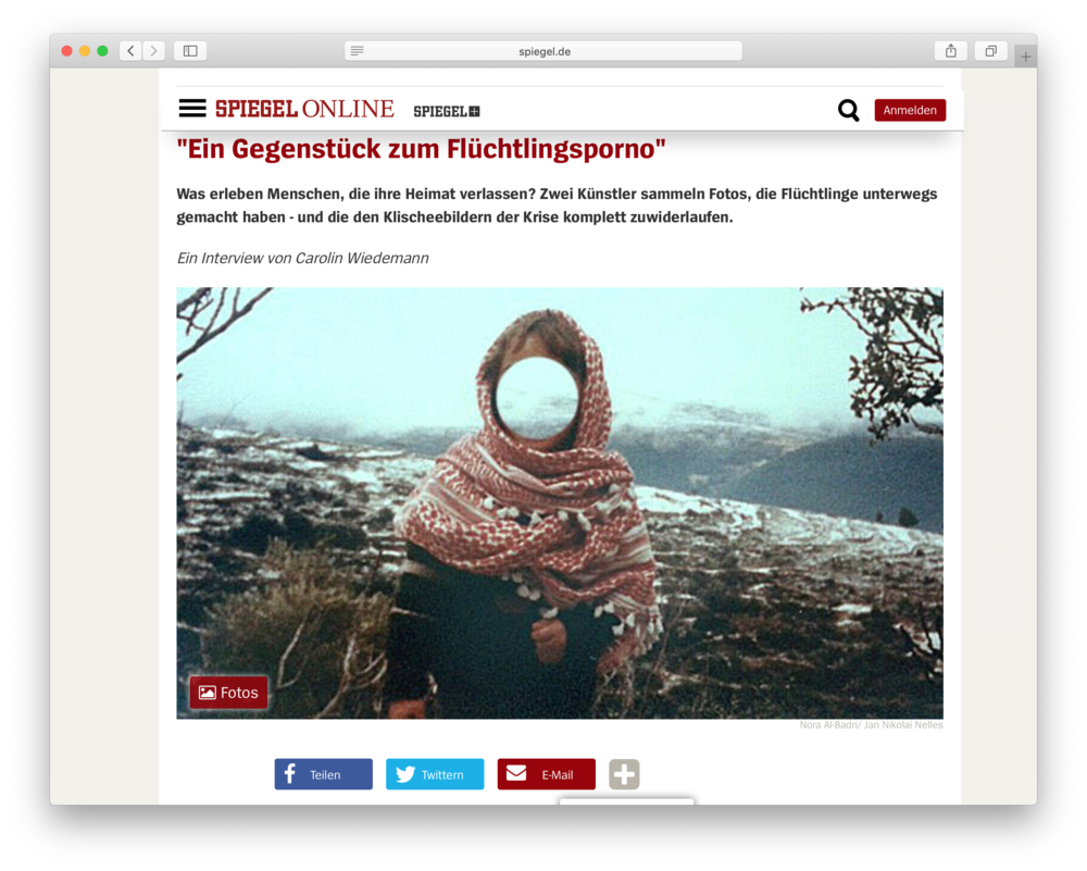 Interview with the artists on Spiegel Online.